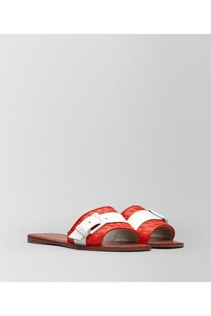 Bottega Veneta Ravello Sandal In Intrecciato Nappa And Patent Leather bd0963cbc284a
