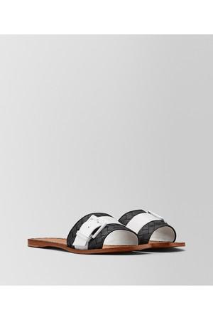 e56f8a10908 Bottega Veneta Ravello Sandal In Intrecciato Nappa And Patent Leather