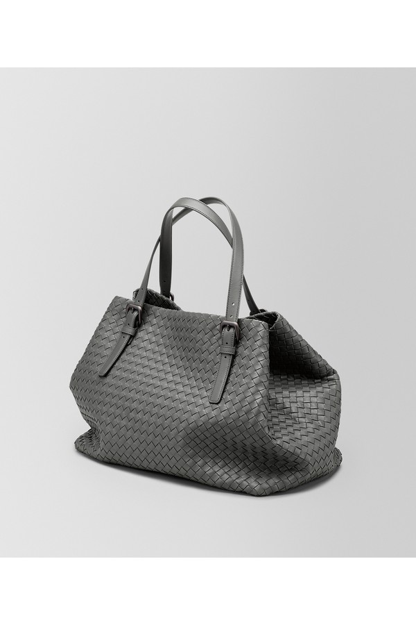 11d23c7dbbbf Light Grey Intrecciato Nappa Large Cesta Bag by Bottega Veneta at...