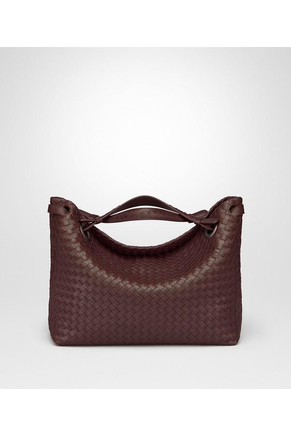 Dark Barolo Intrecciato Nappa Medium Garda Bag by Bottega Veneta... d33b02eab33ca