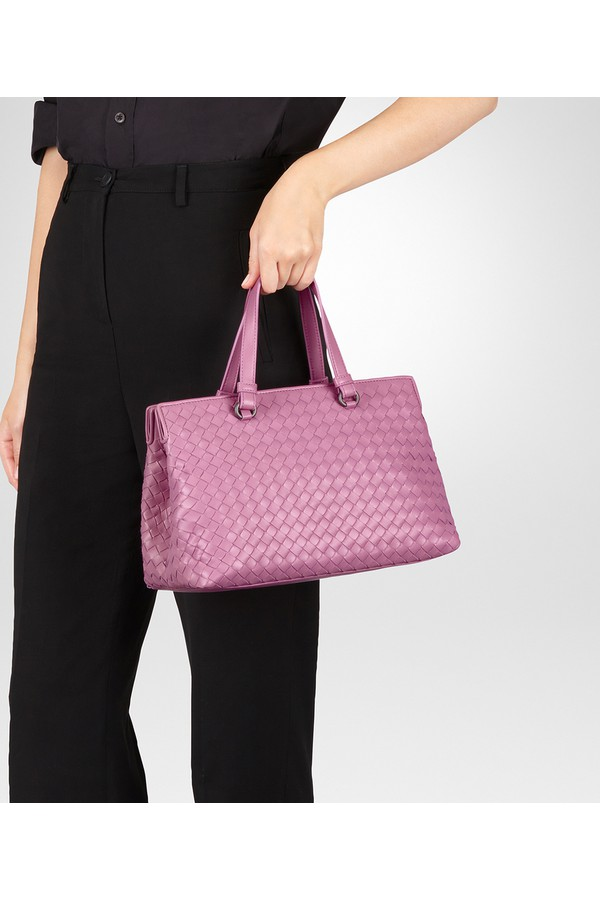 143e4cdaf5 Twilight Intrecciato Nappa Medium Top Handle Bag by Bottega Veneta...