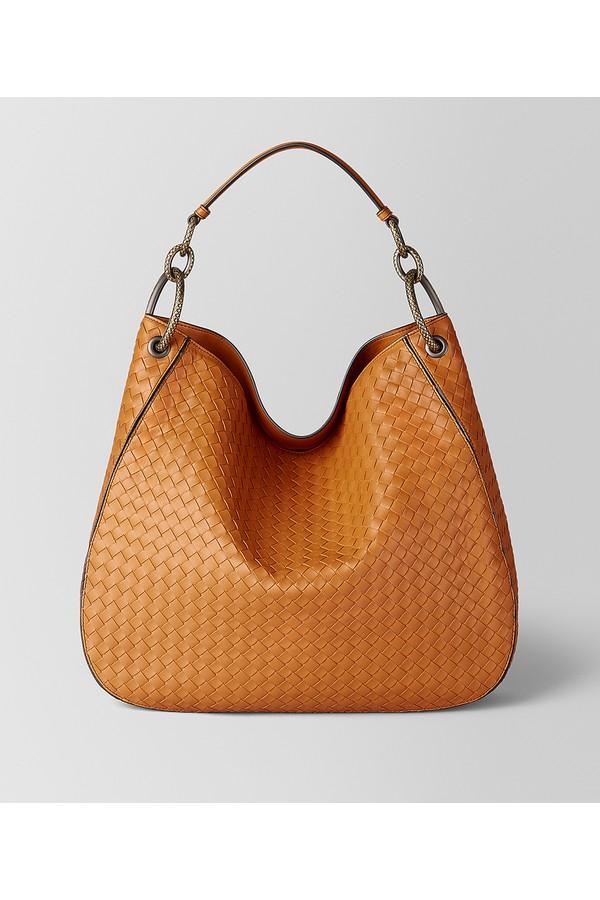95af9bf9a031 Orange Intrecciato Nappa Hobo Bag by Bottega Veneta at ORCHARD MILE
