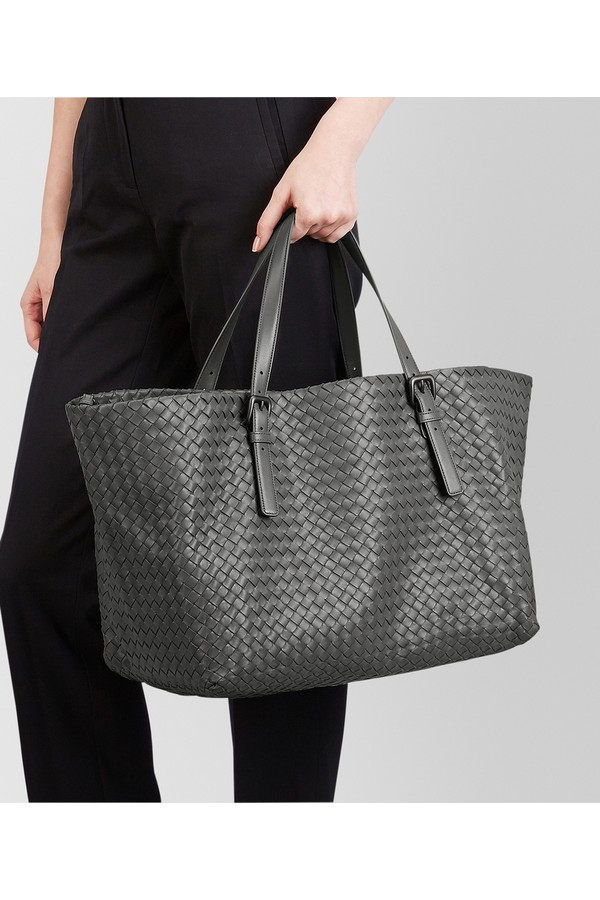 dc75b0f2bc4c Light Grey Intrecciato Nappa Large Cesta Bag by Bottega Veneta at...