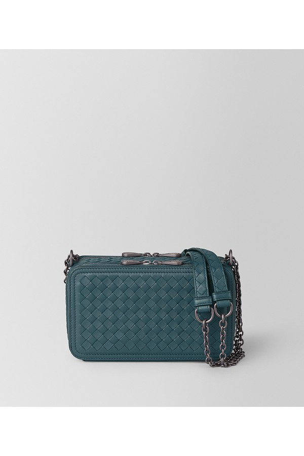 612d9f7adff90 Chain Wallet In Intrecciato Nappa by Bottega Veneta at ORCHARD MILE