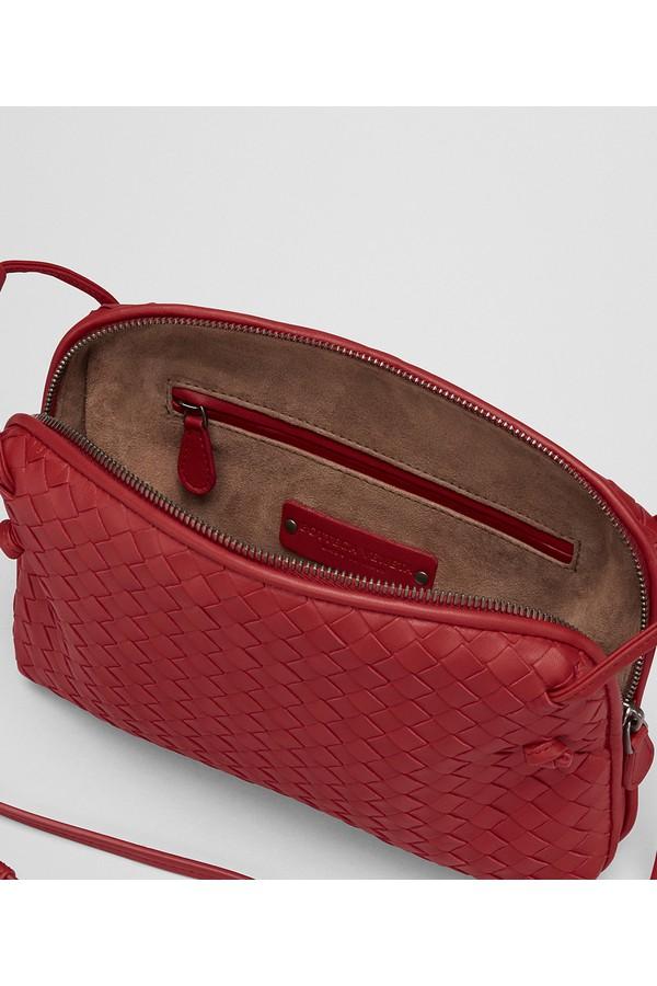 3c3ebdeb92 China Red Intrecciato Nappa Leather Nodini Bag by Bottega Veneta...