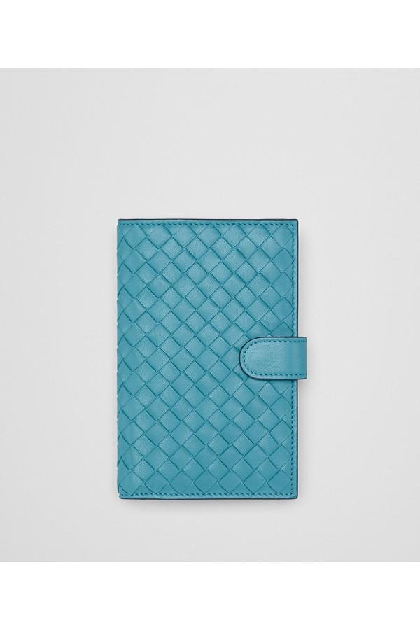 Aqua Pompon Tressé Mini-portefeuille - Bleu Bottega Veneta VKB8ku