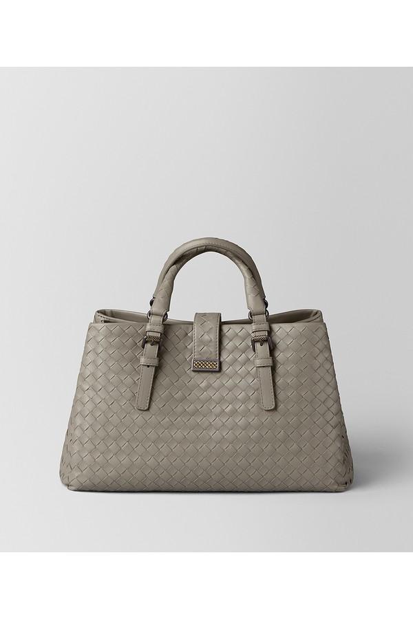 bd090fee2cc6 Nero Intrecciato Calf Small Roma Bag by Bottega Veneta at ORCHARD MILE