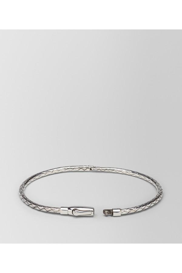 Bottega Veneta Bracelet In Intrecciato Silver M Argento antico lucid LAyYJ