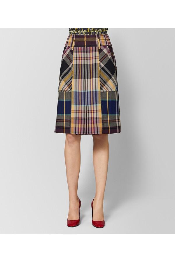 cdc29ffd1da7f Multicolor Wool Skirt by Bottega Veneta