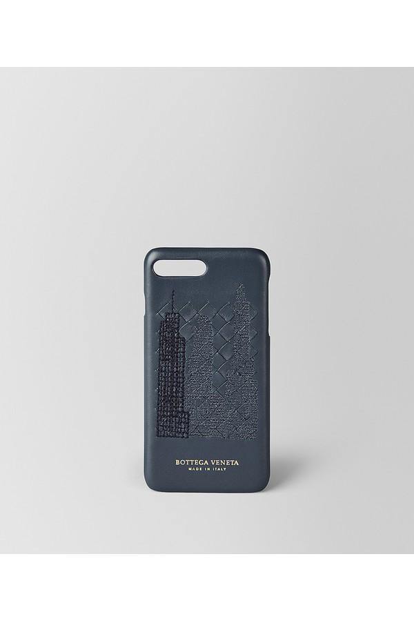 Noir Bottega Veneta Ny Perspective Houppe Iphone 7 Maisons, Plus Brume Noire