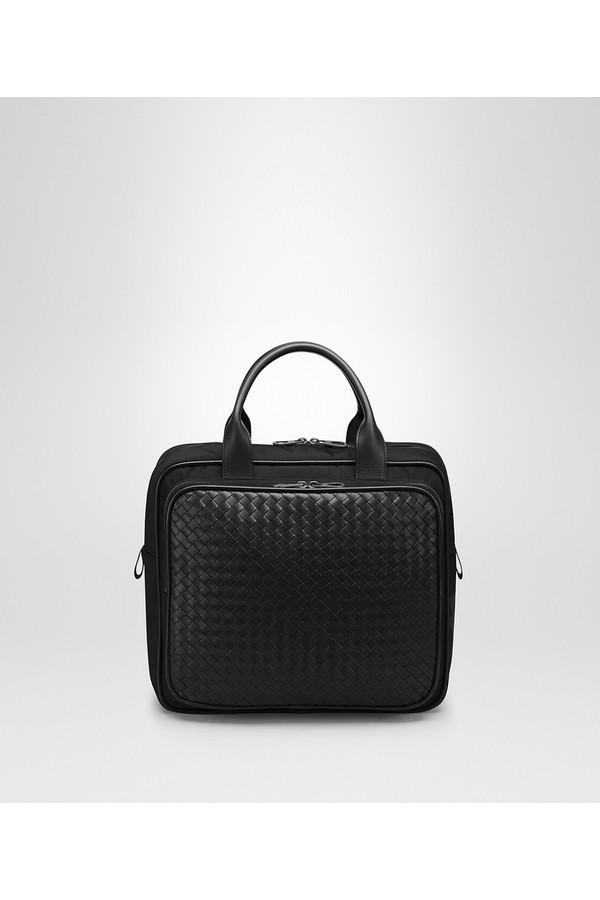 22eeec494ee4 Bottega Veneta. Travel Bag In Tourmaline Technical Canvas And Pacific  Intrecciato Calf