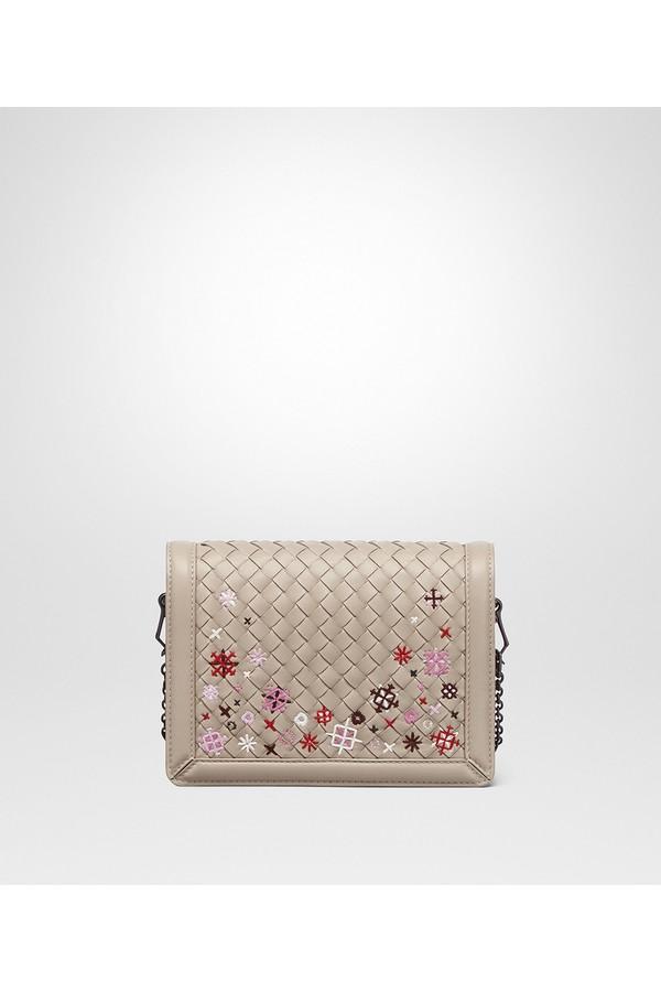 b14a433fa2b Mink Intrecciato Meadow Flower Mini Montebello Bag by Bottega...