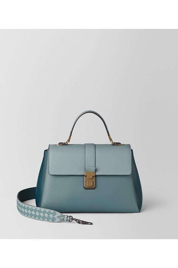 Steel Multicolor Nappa Piazza Bag by Bottega Veneta at ORCHARD MILE f3509607fc
