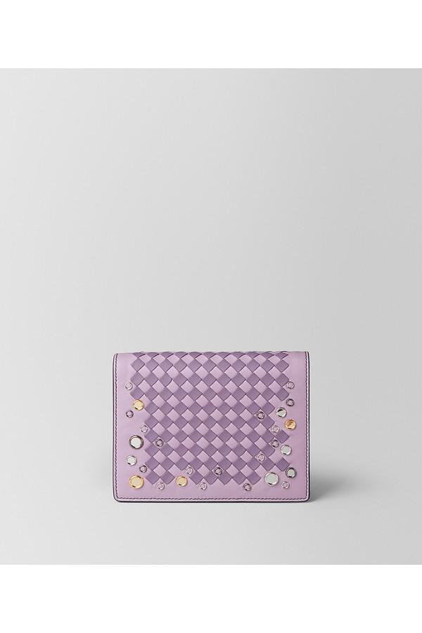 Bottega Veneta parme lilac Intrecciato palio chain wallet How Much For Sale Great Deals For Sale KiiOqh