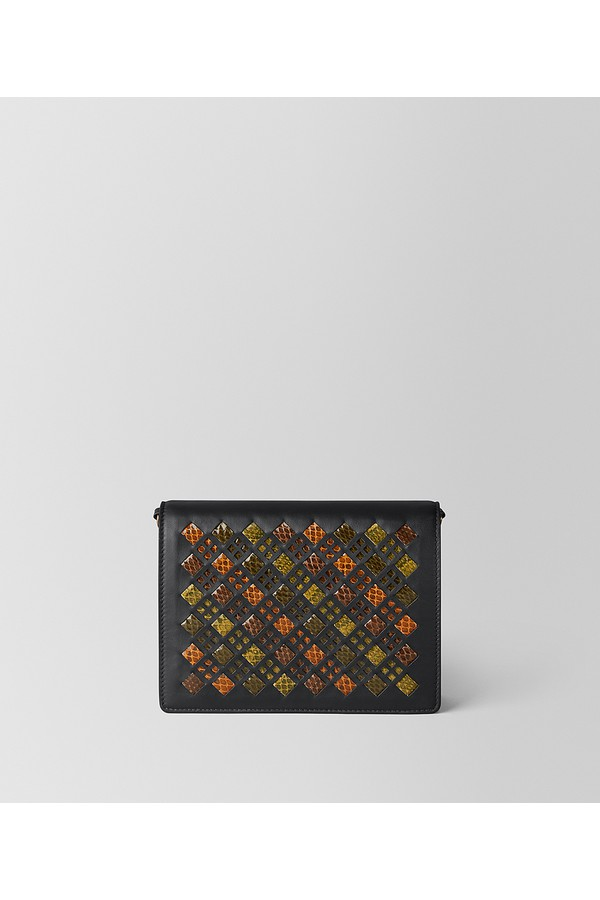 fdd21619b453e Multicolor Intrecciato Stained Glass Chain Wallet by Bottega...