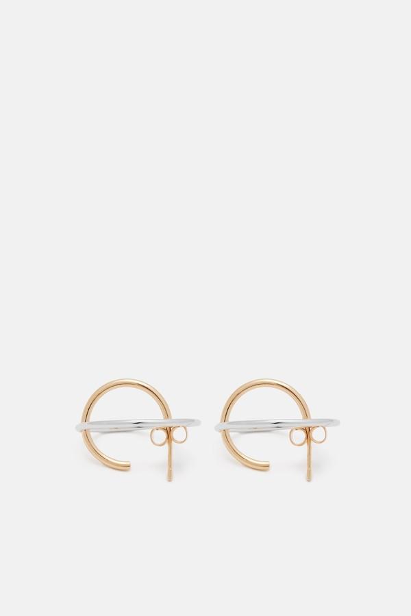 Charlotte Chesnais Medium Saturne Earrings - Pink/Silver at8nRJCtc