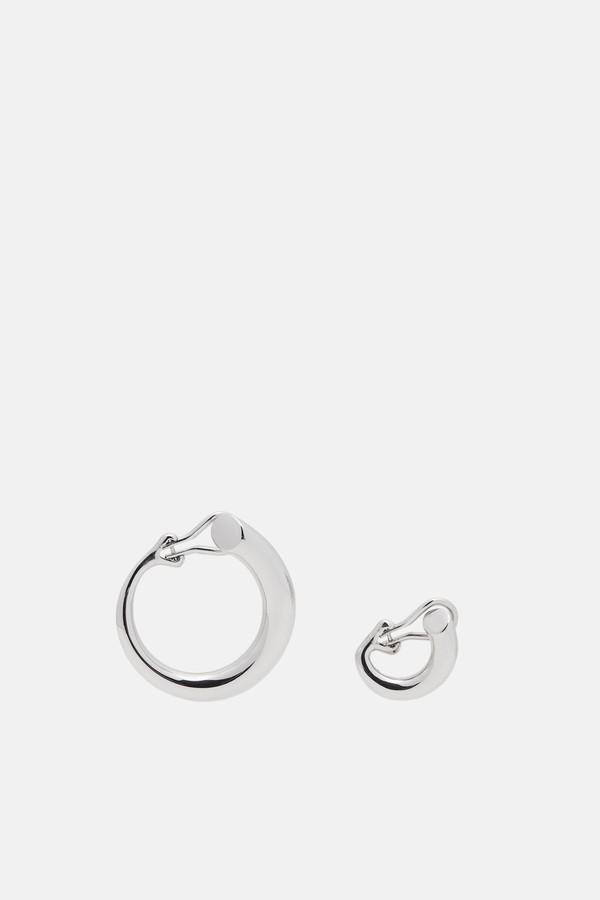 Charlotte Chesnais Monie Small Medium Earrings - Silver DtuY7wk