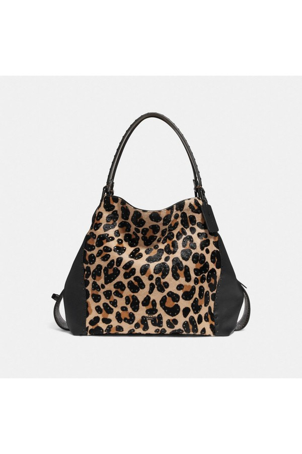 Edie Shoulder Bag 42 With Embellished Leopard Print by Coach at... a8eaa6cb690bc