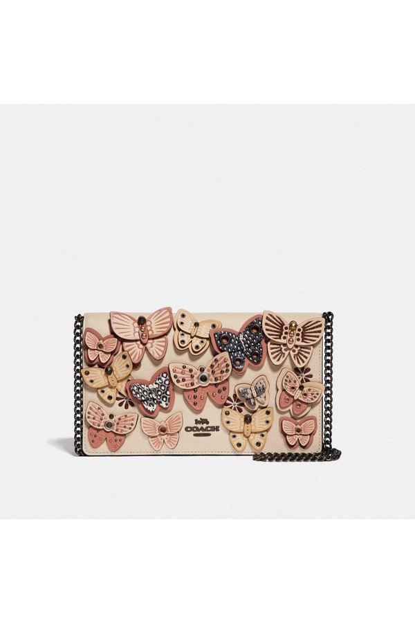 20786721fd Callie Foldover Chain Clutch With Butterfly Applique