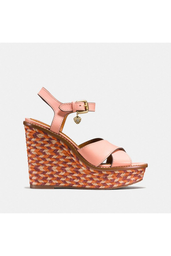 87064c6e3fc Cross Band High Wedge Sandal by Coach at ORCHARD MILE