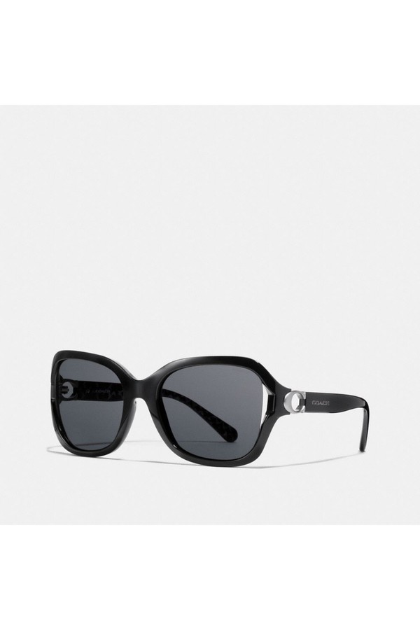 2a4719368e96f Signature Hardware Rectangle Sunglasses by Coach at ORCHARD MILE