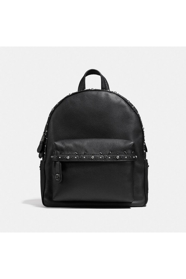 Backpacks - Campus Backpack With Pairie Rivets Black/Black Copper - black - Backpacks for ladies Coach Z4Ayv