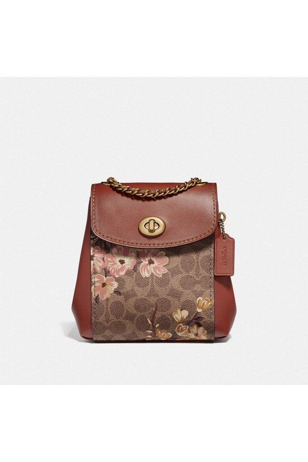 39faaebec8 Parker Convertible Backpack 16 In Signature Canvas With Prairie Floral Print