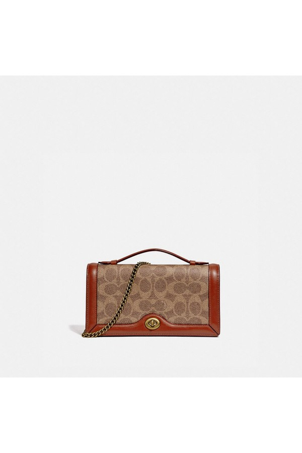 874ff6efb1de Riley Chain Clutch In Colorblock Signature Canvas by Coach at...