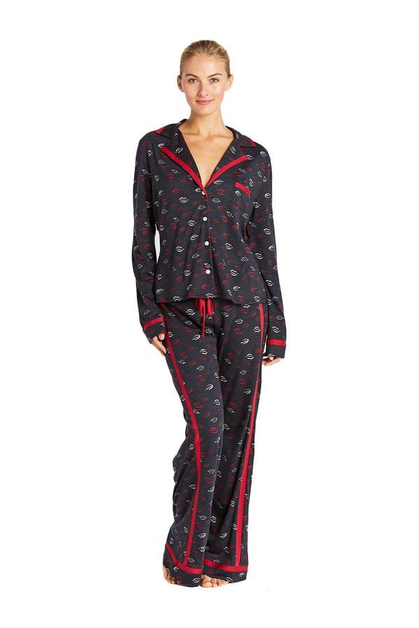 95002029f3b3 Bella Printed Long Sleeve Top   Pant Pajama Set by Cosabella at...