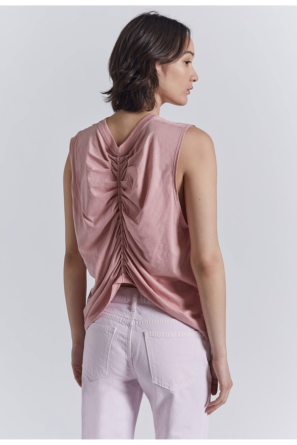 77ded1a0ee2ed3 The Pleated Back Muscle Tee by Current Elliott at ORCHARD MILE