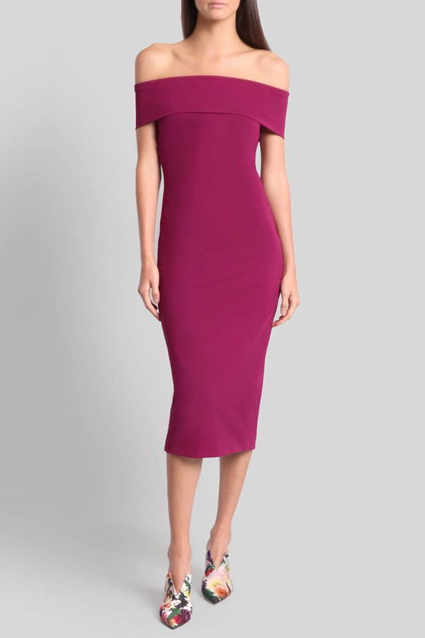 off shoulder dress - Pink & Purple Cushnie et Ochs H2TxWIc0bu