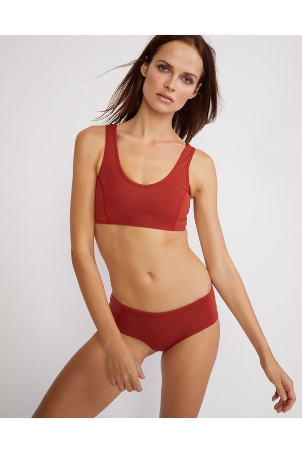 Cynthia Rowley Rust Bikini Bottom