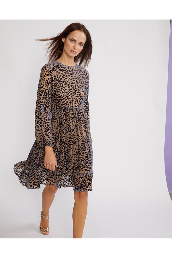 b7ec0042045 Burnout Velvet Bell Sleeve Flounce Dress by Cynthia Rowley at...