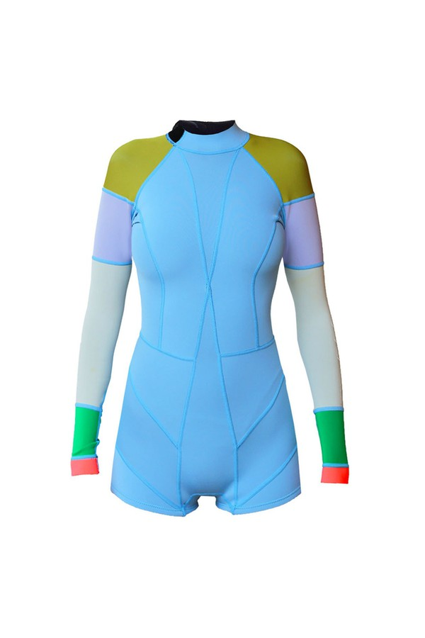 Cynthia Rowley Light Blue Lightweight Colorblock Wetsuit