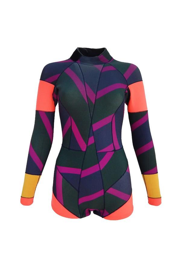 Cynthia Rowley ZigZag Stripe Wetsuit