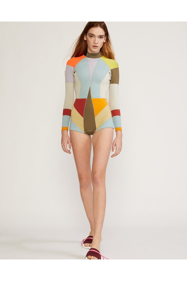 Cynthia Rowley Kalleigh Colorblock Wetsuit Extended Sizes Available