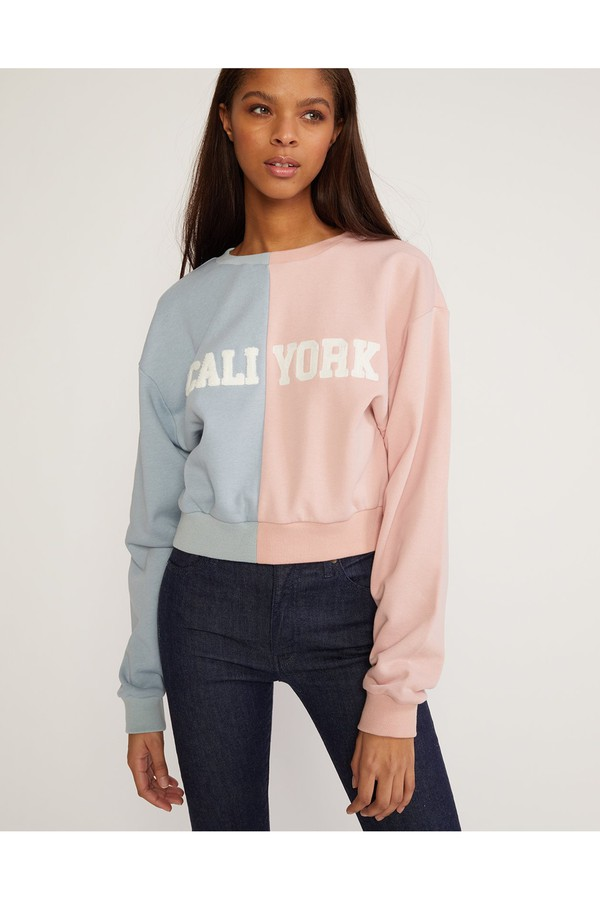 eb6ceacbd8768a Caliyork Cropped Sweatshirt by Cynthia Rowley at ORCHARD MILE