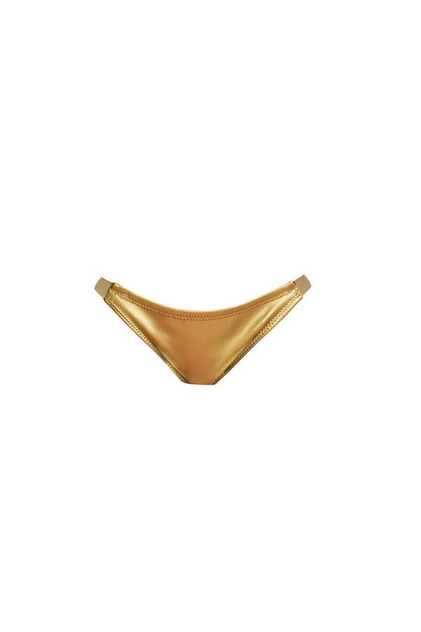 Cynthia Rowley Gold Glideskin Bikini Bottom