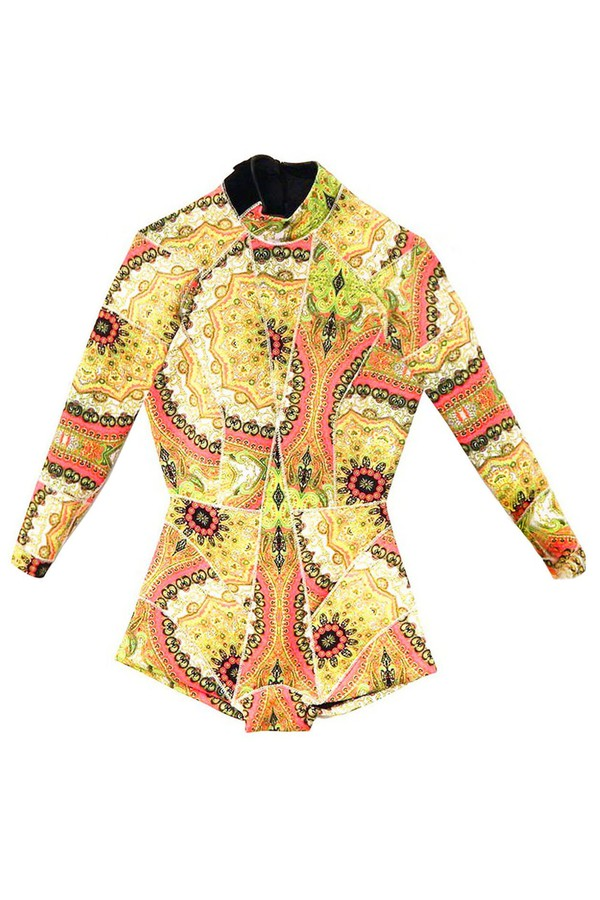 Cynthia Rowley Pink Paisley Print Wetsuit