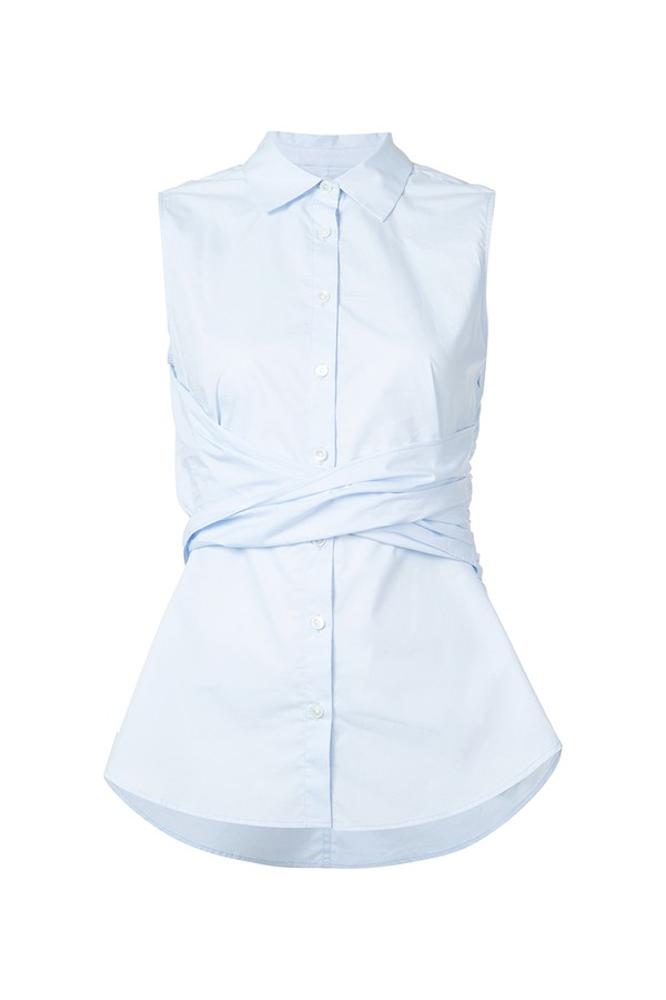 10cf1b7a596acb Sleeveless Twist Front Shirt by Derek Lam 10 Crosby at ORCHARD MILE