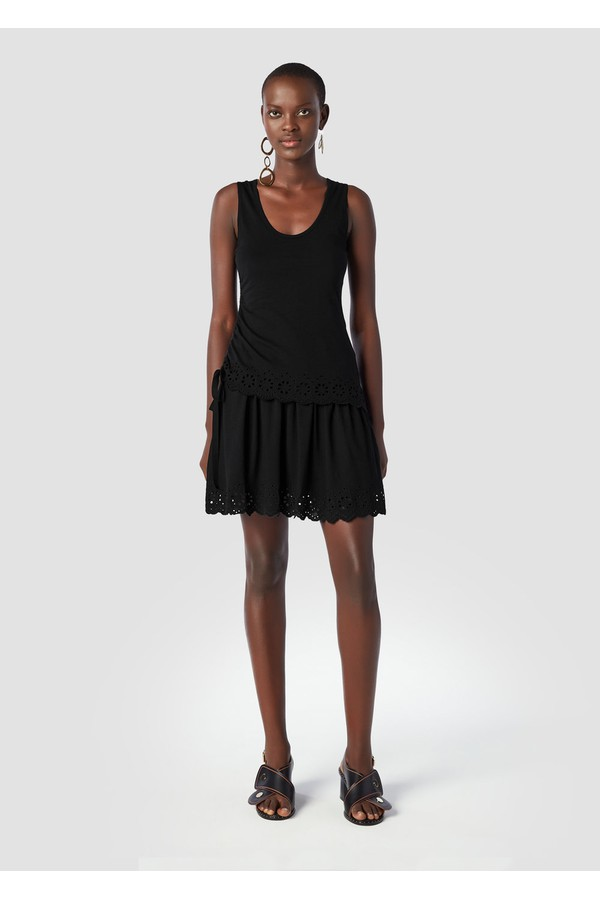 18266d667d6cf3 Sleeveless Tiered Dress With Scallop Hem by Derek Lam 10 Crosby at...