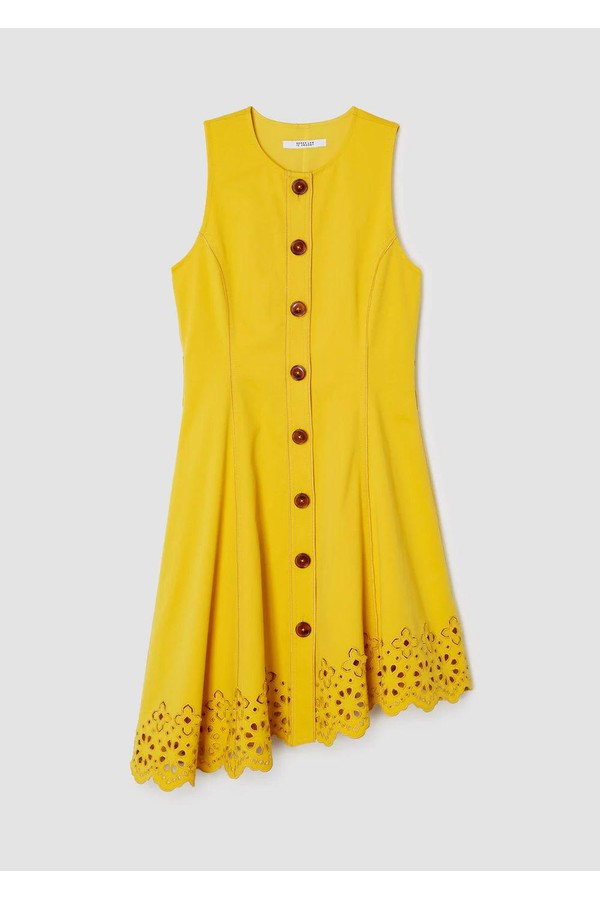 16cf6a15cf84f Sleeveless Button Down Dress With Scalloped Hem by Derek Lam 10...