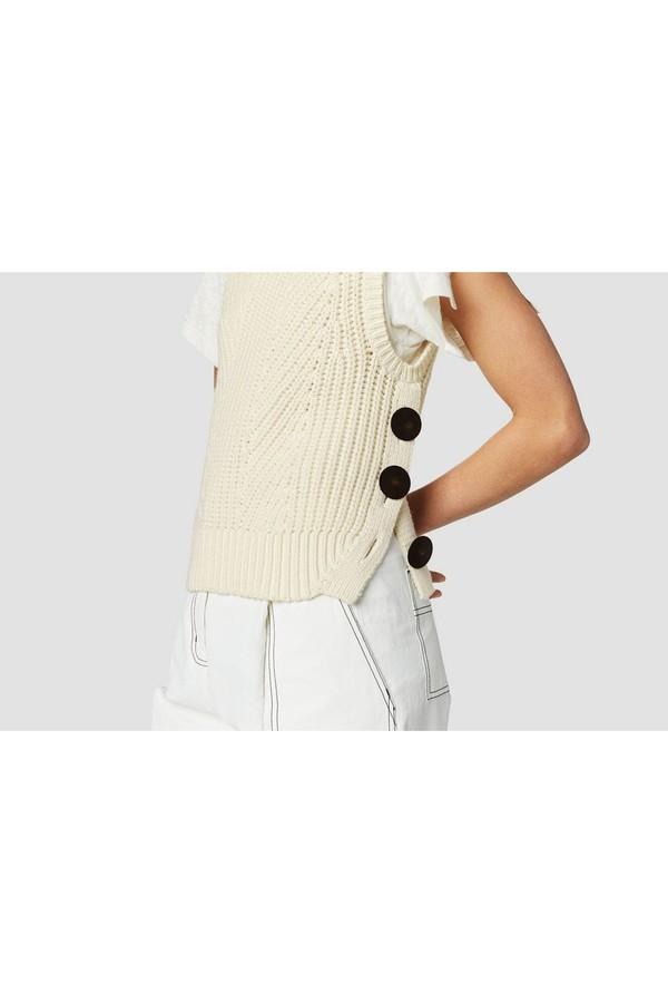 529156850fca4a Ribbed Cotton-Blend Sleeveless Turtleneck Sweater by Derek Lam 10...