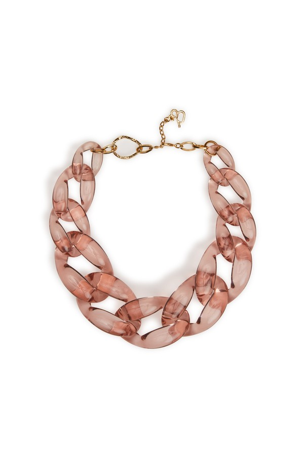 Diana Broussard Nate Large Chain Necklace In Brown 3hJdn