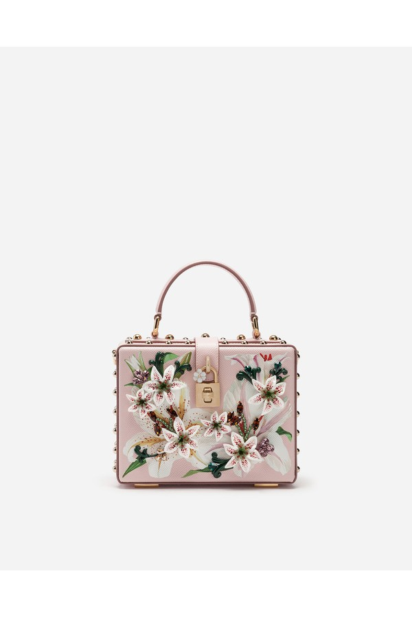 83f46ddb33 Dolce Box Bag In Lily-Print Dauphine Calfskin With Embroidery by...