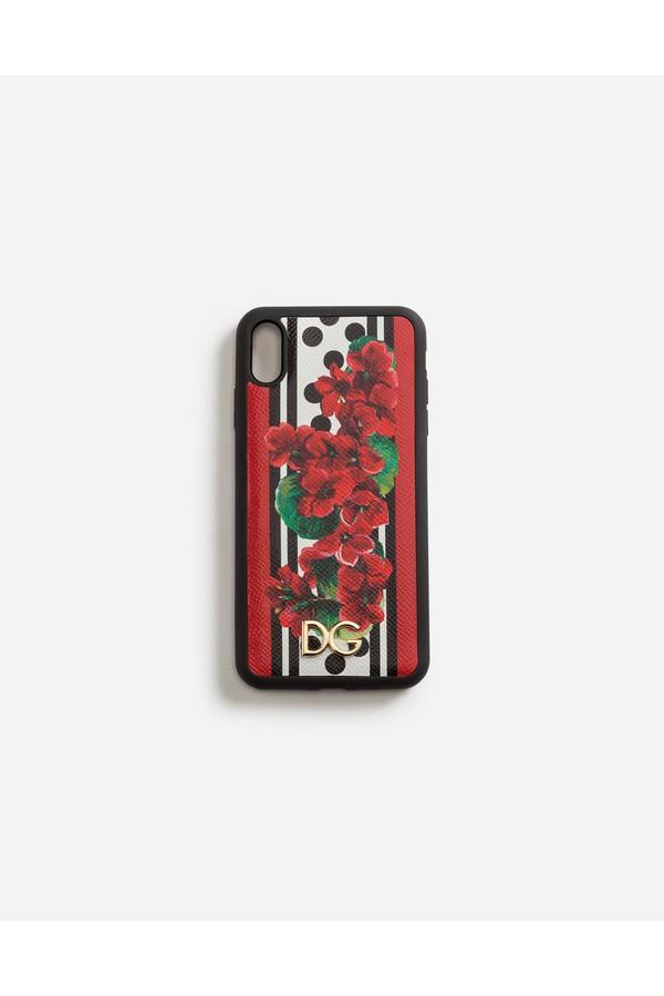 quality design 4459e 0c85f Iphone Xs Max Cover In Portofino-Print Dauphine Calfskin by Dolce...