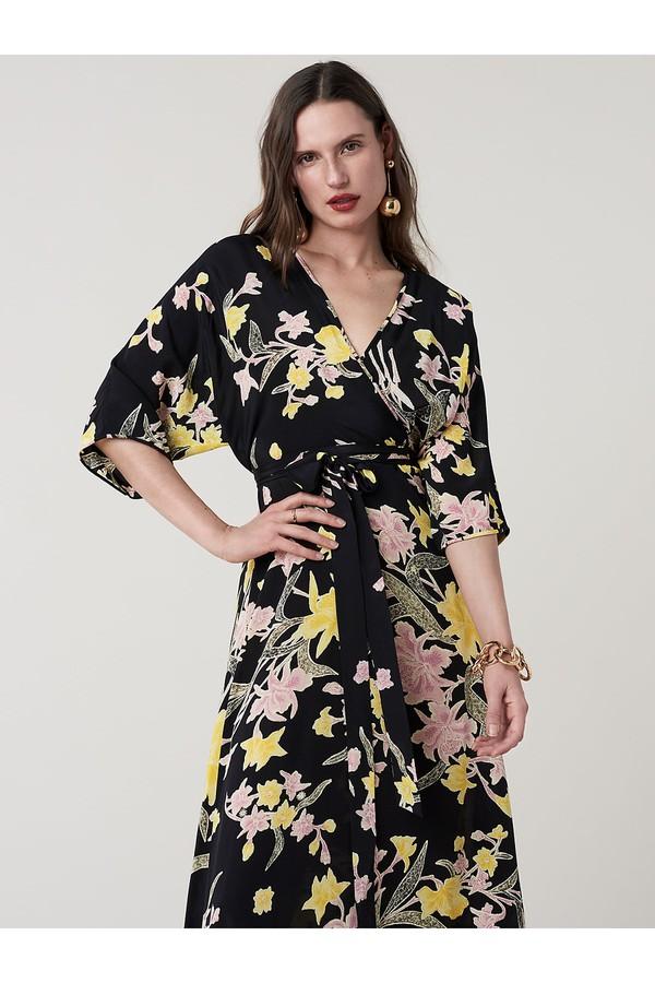 f424d51b79 Eloise Silk Crepe De Chine Maxi Faux-Wrap Dress by Diane von...