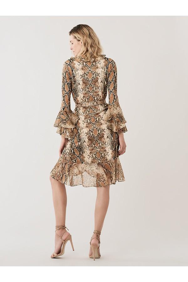 3fa323102b7 Carli Ruffled Silk-Jersey Wrap Dress by Diane von Furstenberg at...