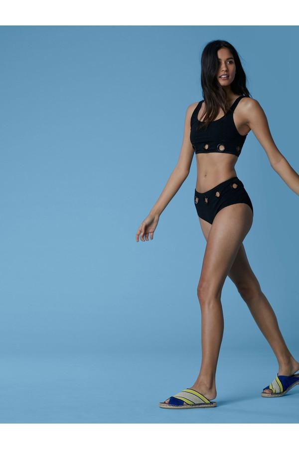 Diane von Furstenberg Grommet Tank Bikini Top