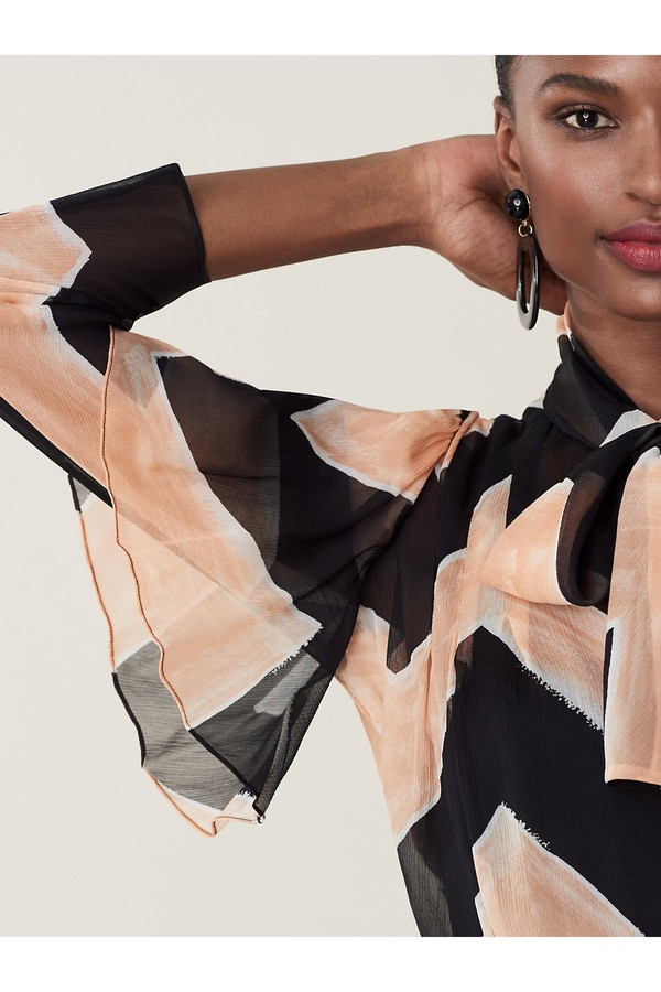 bb02e465 Nami Sheer Silk-Chiffon Necktie Blouse by Diane von Furstenberg at...
